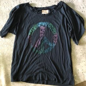 Gypsy 05 Peace Sign Tee Worn By Ashley Tisdale